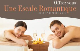 "Coffret SAINT VALENTIN ""Pause Romantique"" en Duo / Couple (1h) Hammam, Massage"