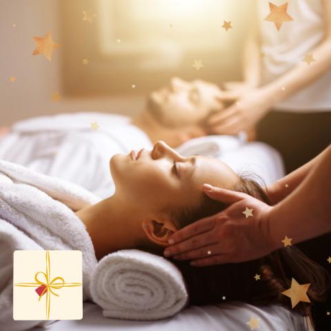 """Coffret """"Notre Premier Voyage"""" : Massage Duo (1H) - Cadeau Noël"""